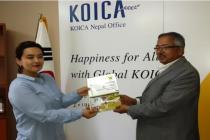 Meeting with Byeongsook Han,Manager Volunteer Program, KOICA office Ktd.on August 12, 2016