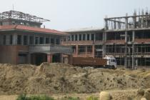 Construction work in progress of the AFU Central Office Complex at Rampur, Chitwan