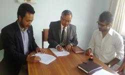 MOU signing between AFU and Daayitwa on Aug. 15, 2016