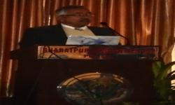 VC Prof. Dr. IP Dhakal delivering his Inagural Speech